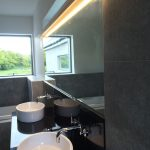 Strip lighting over sink